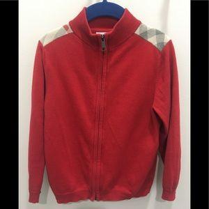 AUTH Burberry boys zip up sweater